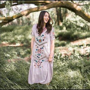 Orange Creek Embroidered Dress S/M
